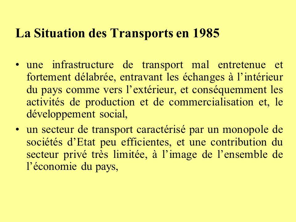La Situation des Transports en 1985