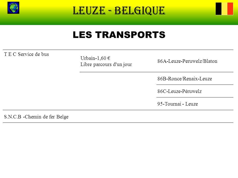 LES TRANSPORTS T E C Service de bus Urbain-1,60 €