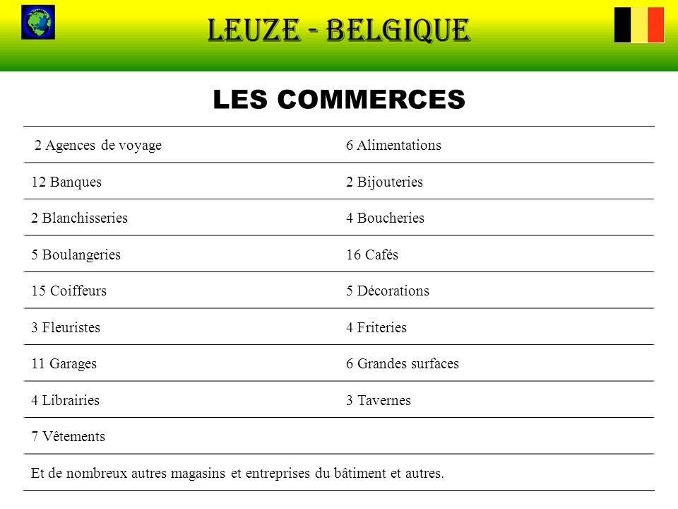 LES COMMERCES 2 Agences de voyage 6 Alimentations 12 Banques