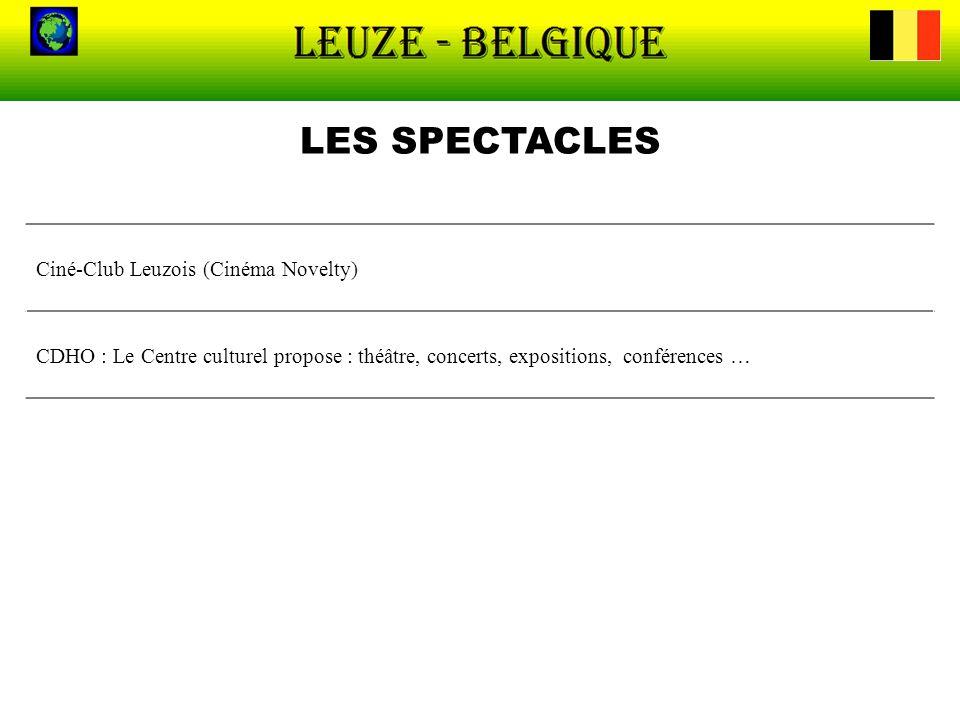 LES SPECTACLES Ciné-Club Leuzois (Cinéma Novelty)