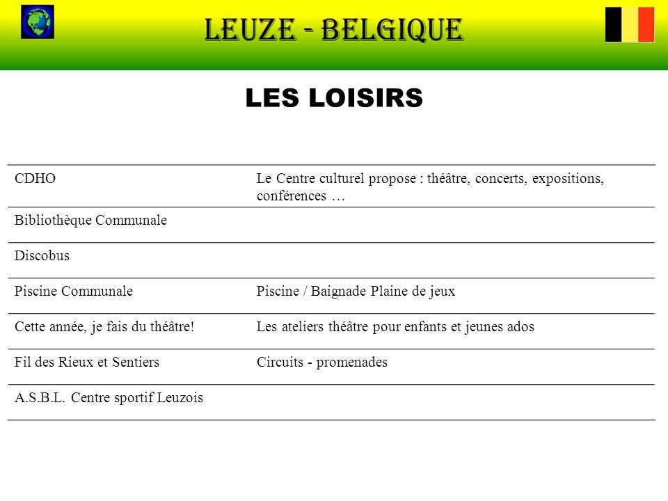 LES LOISIRS CDHO. Le Centre culturel propose : théâtre, concerts, expositions, conférences … Bibliothèque Communale.