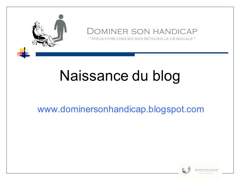 Naissance du blog Dominer son handicap