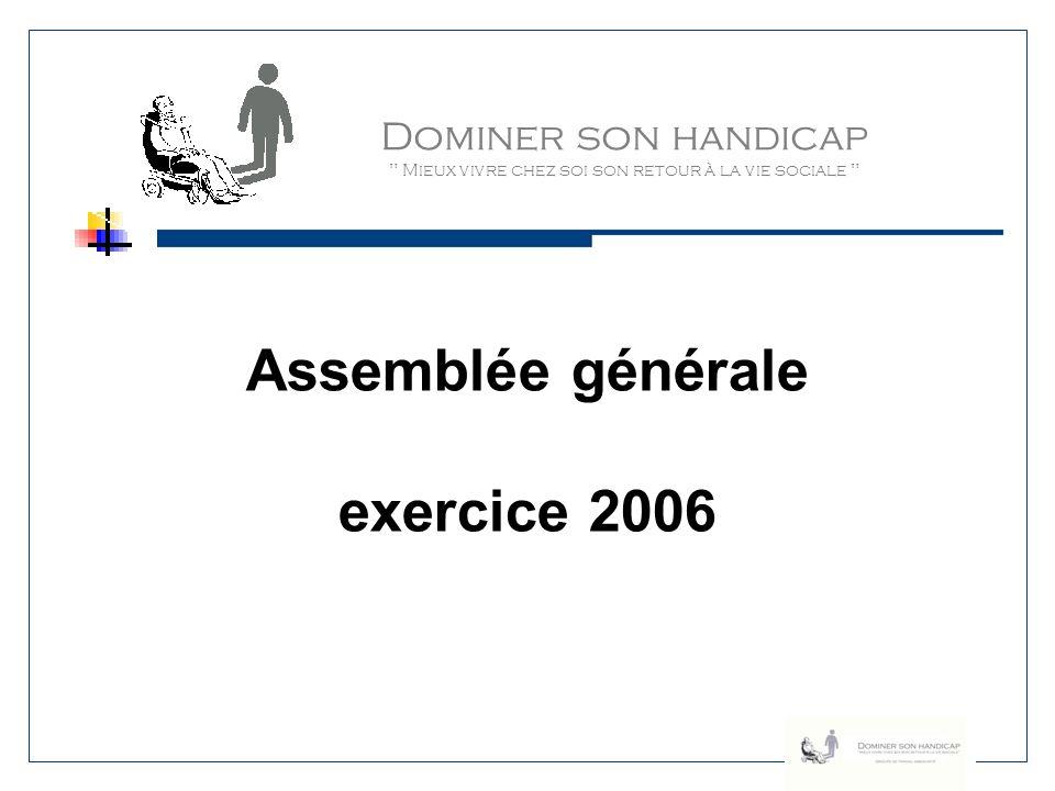 Assemblée générale exercice 2006