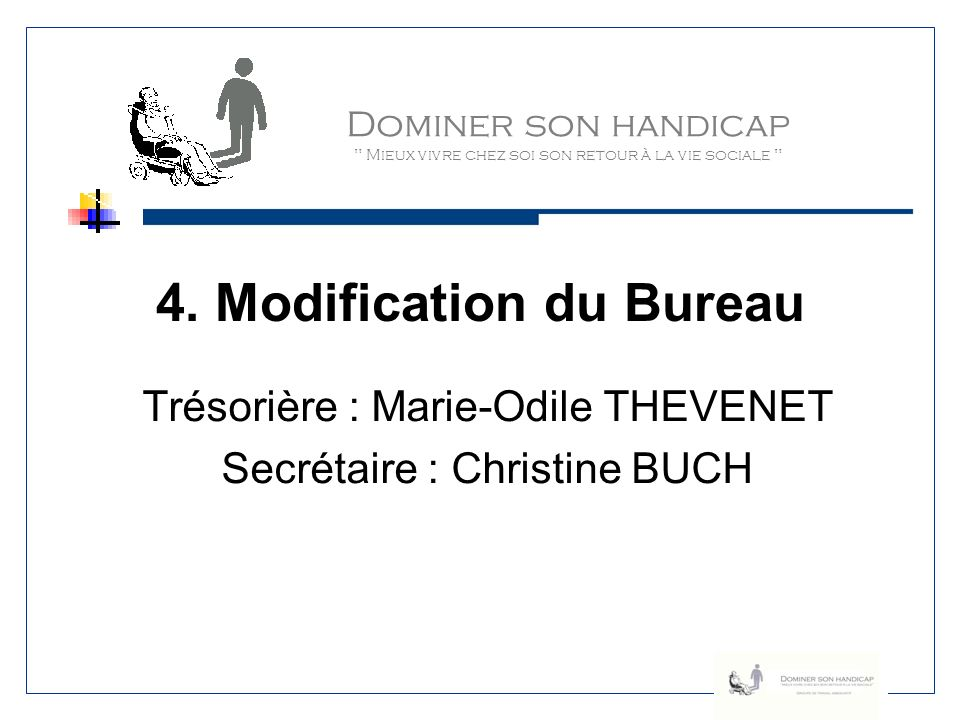 4. Modification du Bureau