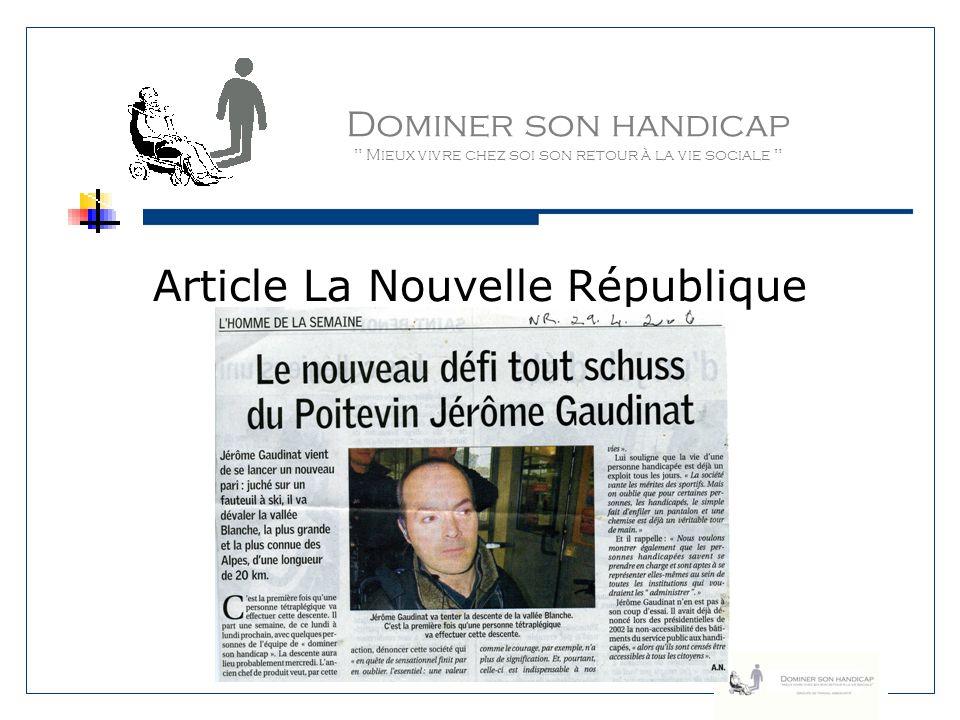 Article La Nouvelle République