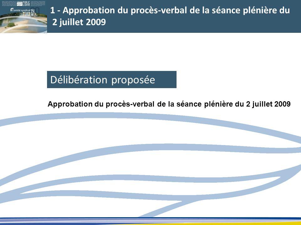 Délibération proposée