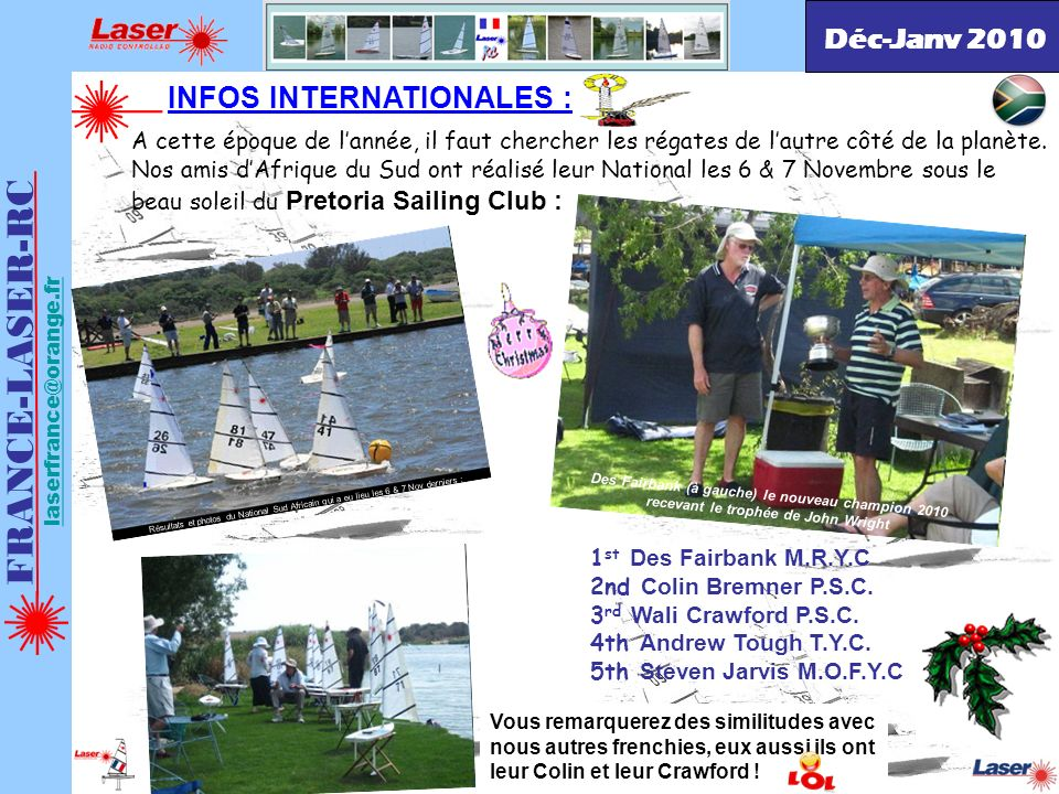 FRANCE-LASER-RC Déc-Janv 2010 INFOS INTERNATIONALES :