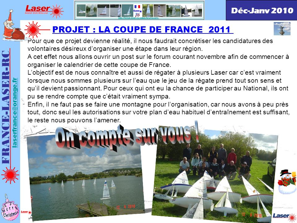 On compte sur vous ! FRANCE-LASER-RC Déc-Janv 2010