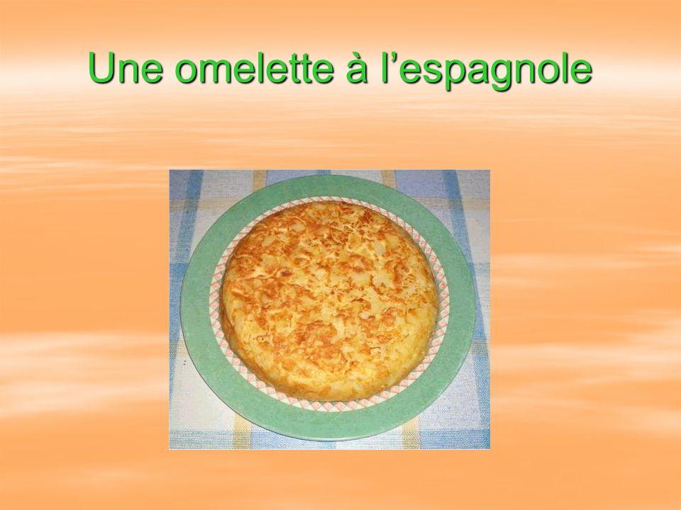 Une omelette à l'espagnole
