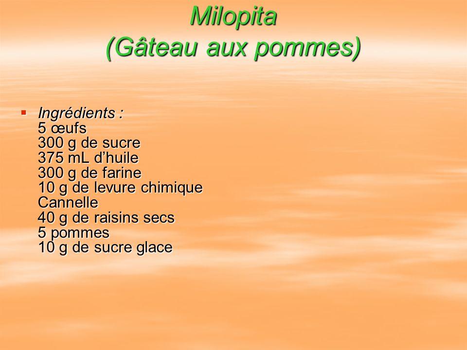 Milopita (Gâteau aux pommes)