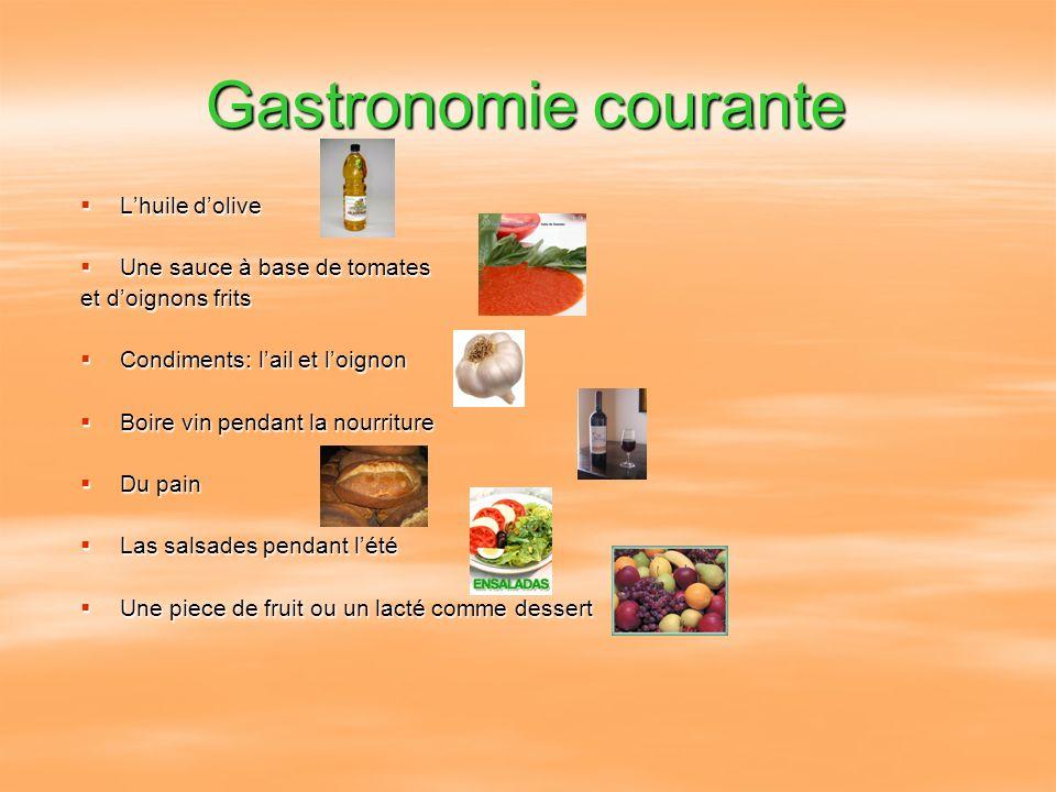 Gastronomie courante L'huile d'olive Une sauce à base de tomates