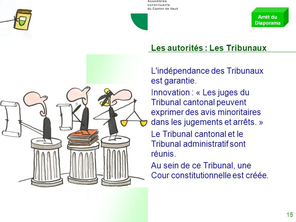 Les autorités : Les Tribunaux