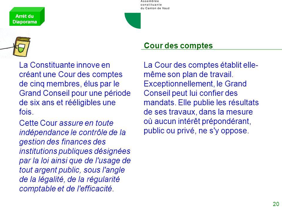 Arrêt du Diaporama Cour des comptes.