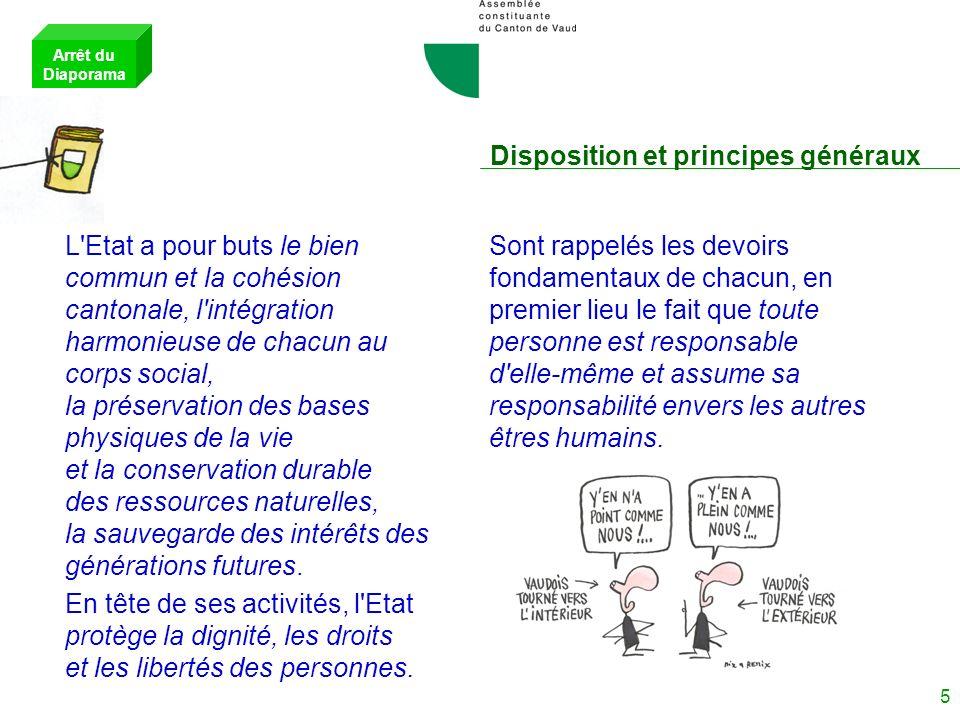 Disposition et principes généraux
