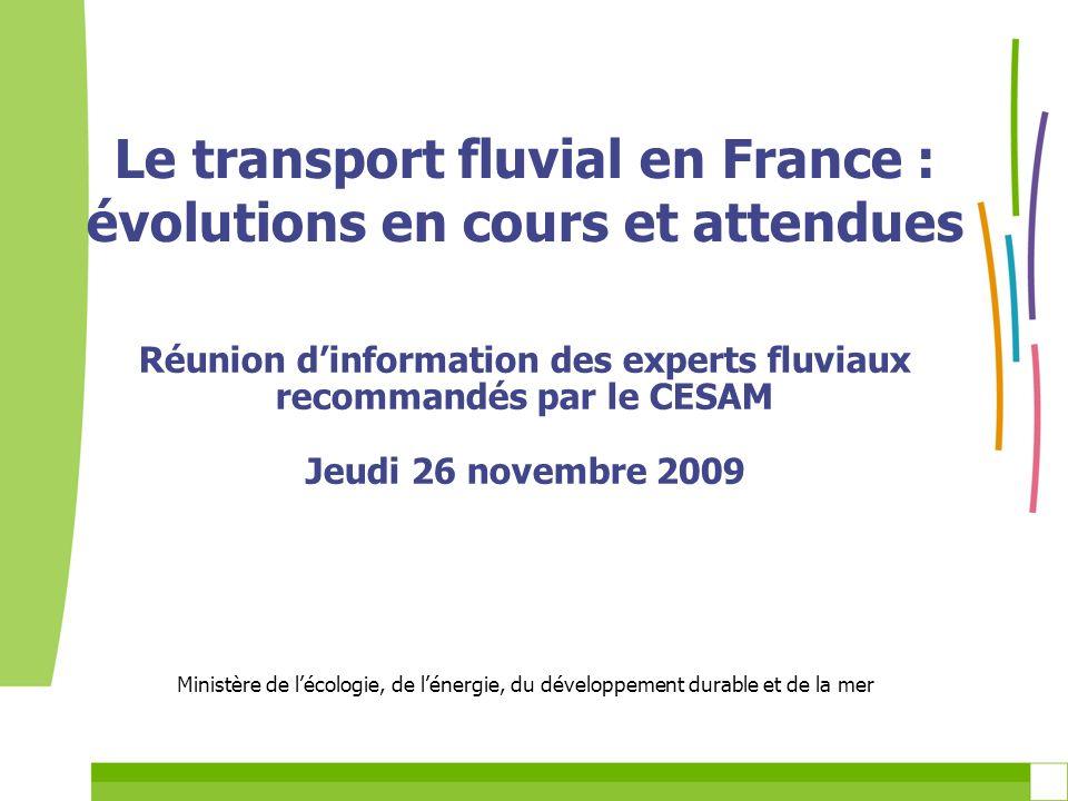 Le transport fluvial en France : évolutions en cours et attendues