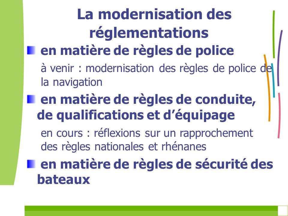 La modernisation des réglementations