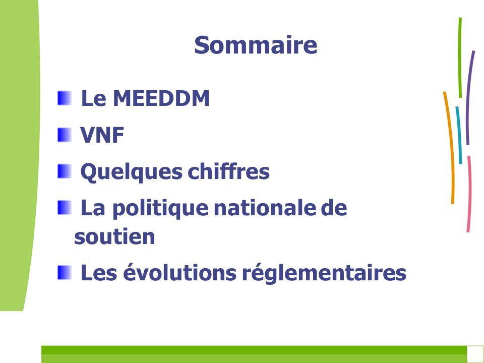 Sommaire Le MEEDDM VNF Quelques chiffres
