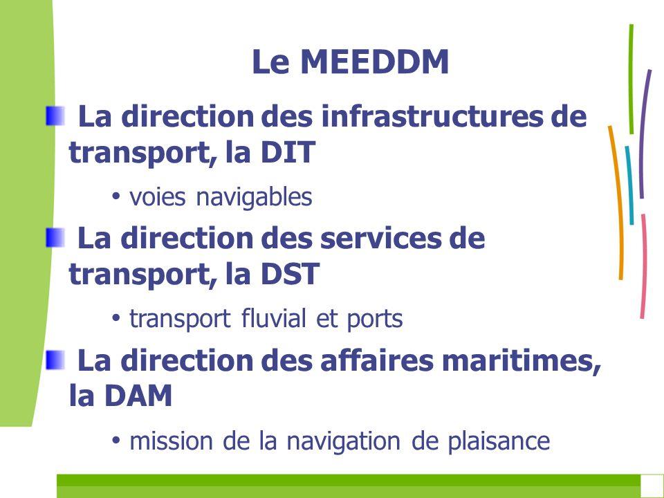 Le MEEDDM La direction des infrastructures de transport, la DIT