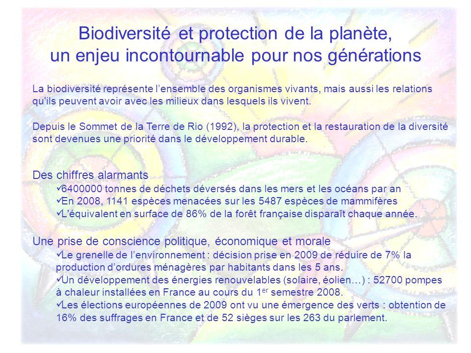 Biodiversité et protection de la planète, un enjeu incontournable pour nos générations