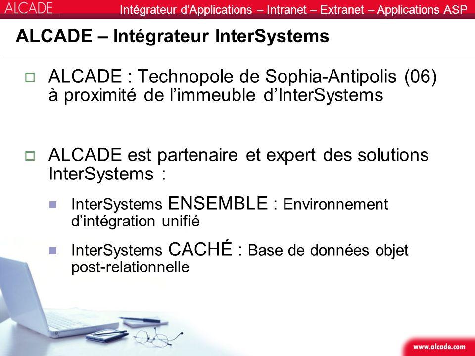 ALCADE – Intégrateur InterSystems