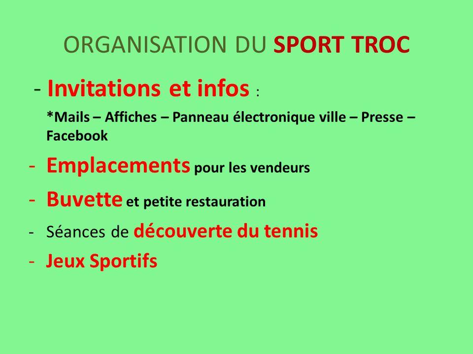 ORGANISATION DU SPORT TROC