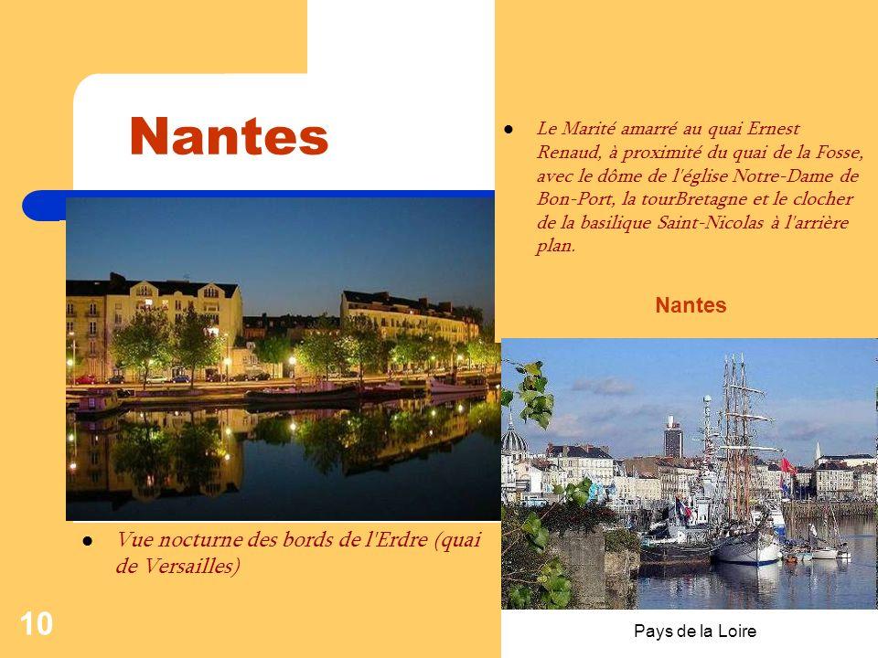 Nantes Nantes Vue nocturne des bords de l Erdre (quai de Versailles)