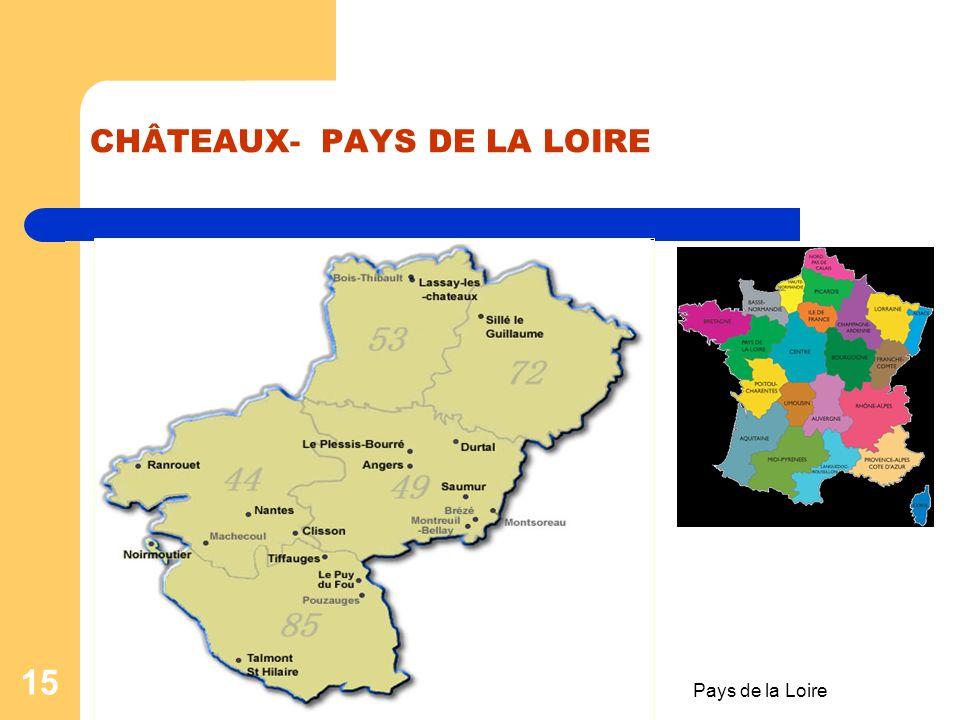 CHÂTEAUX- PAYS DE LA LOIRE