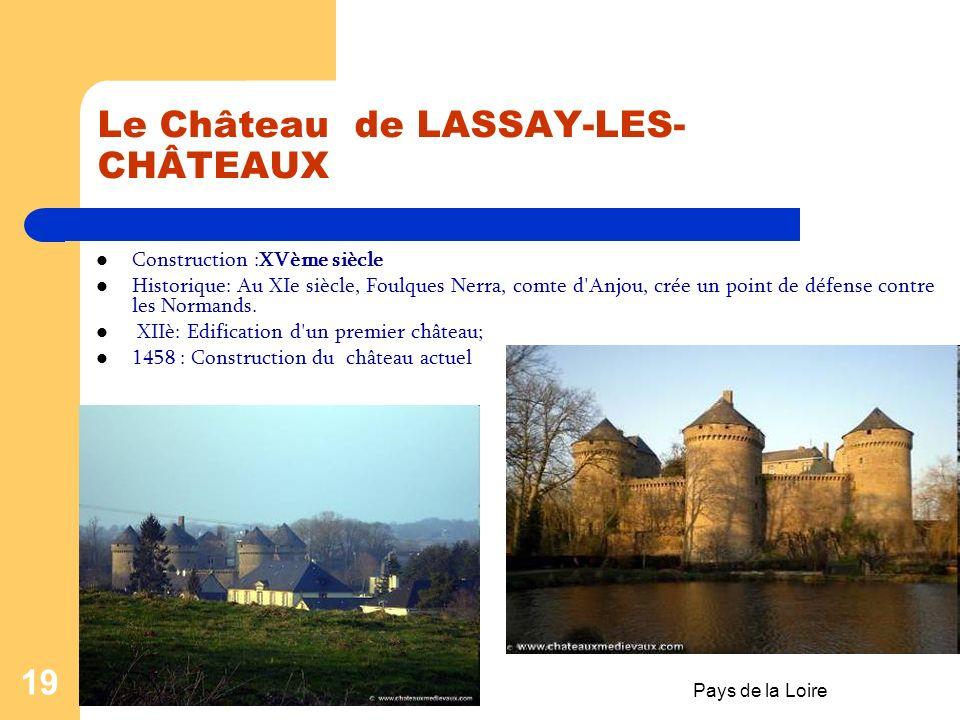 Le Château de LASSAY-LES-CHÂTEAUX