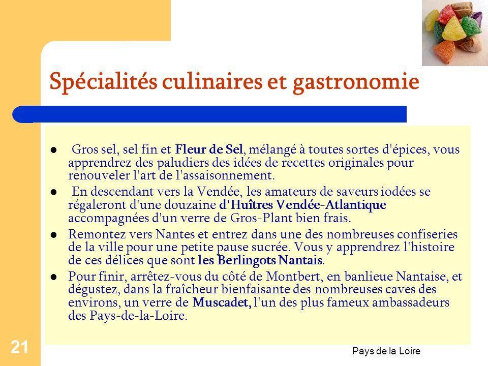 Spécialités culinaires et gastronomie