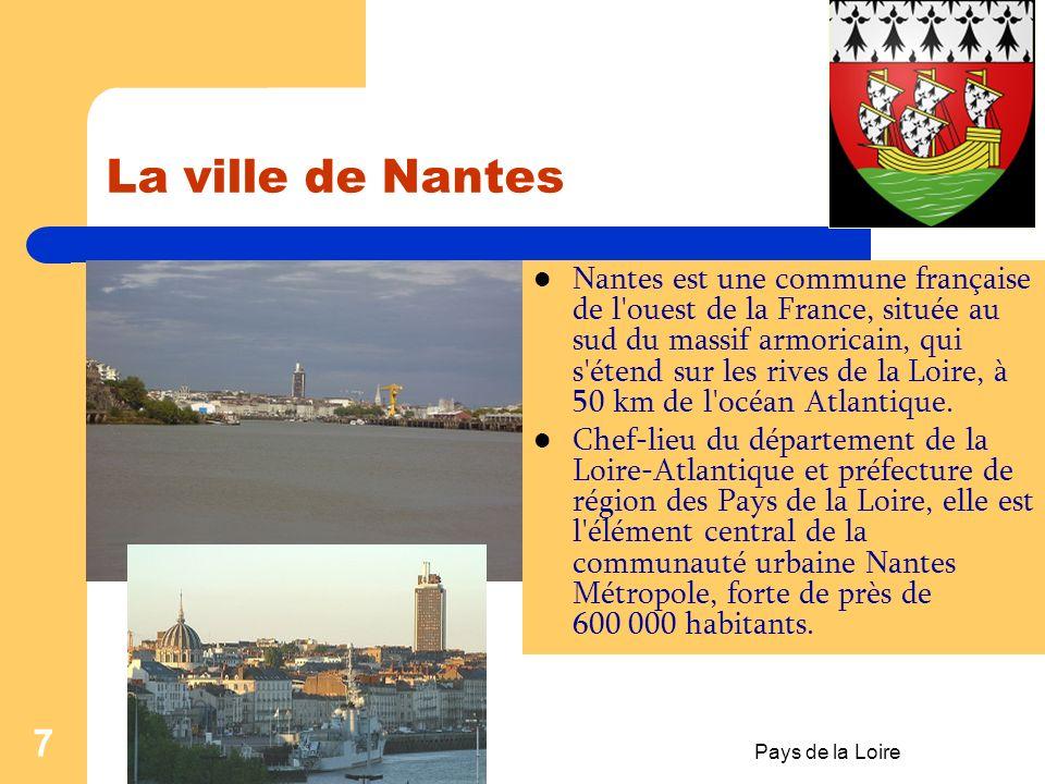 La ville de Nantes Date: le 10 juillet 2011. Realisation: prof. Aura Stefanescu.