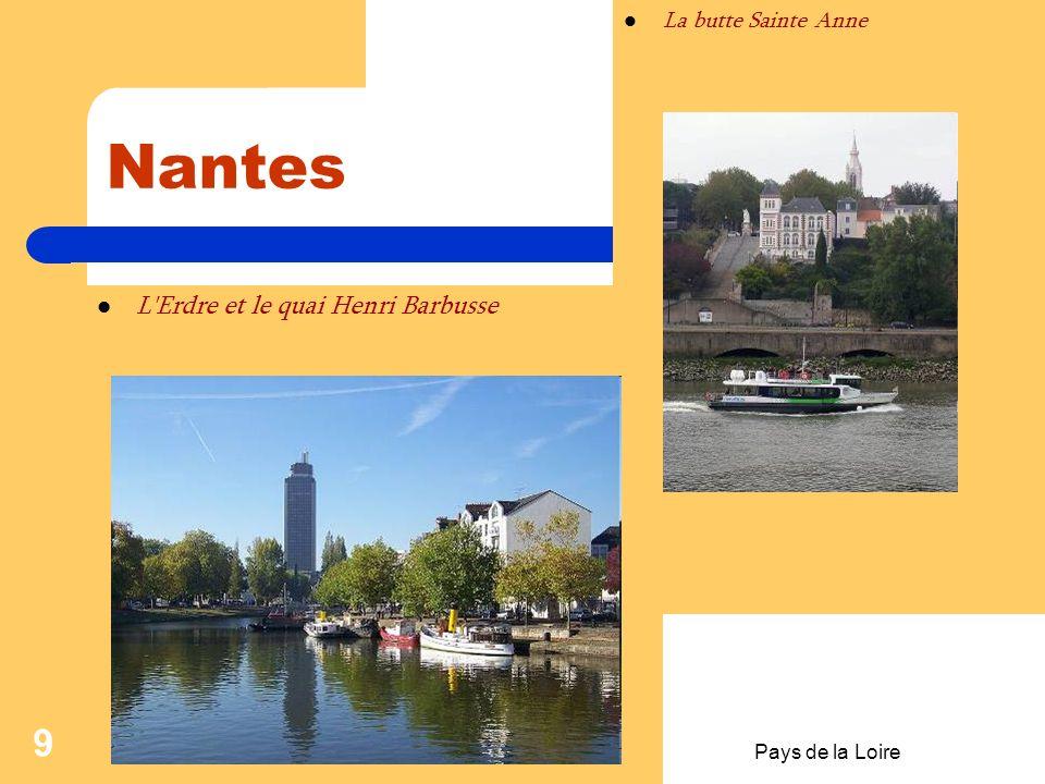 Nantes L Erdre et le quai Henri Barbusse La butte Sainte Anne