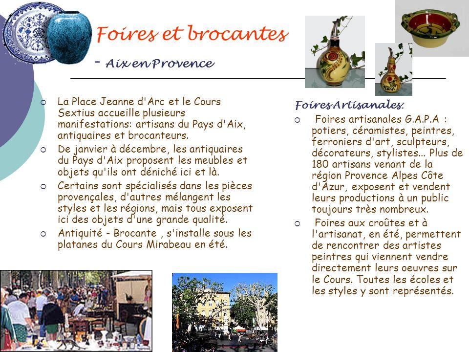 Foires et brocantes - Aix en Provence