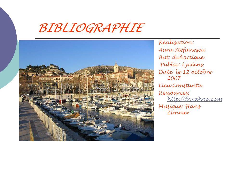BIBLIOGRAPHIE Réalisation: Aura Stefanescu But: didactique