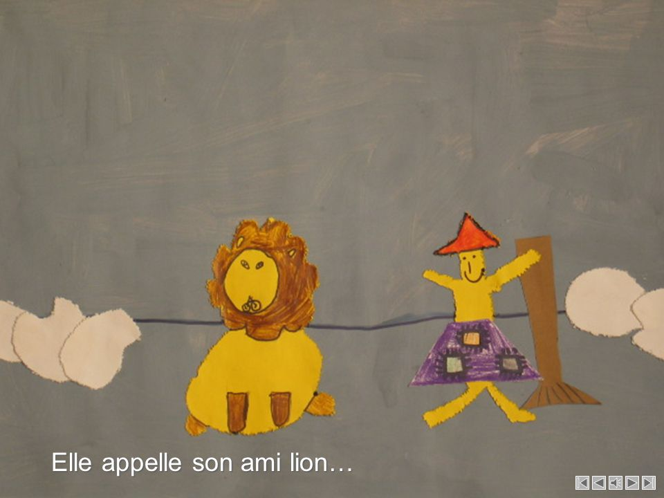 Elle appelle son ami lion…