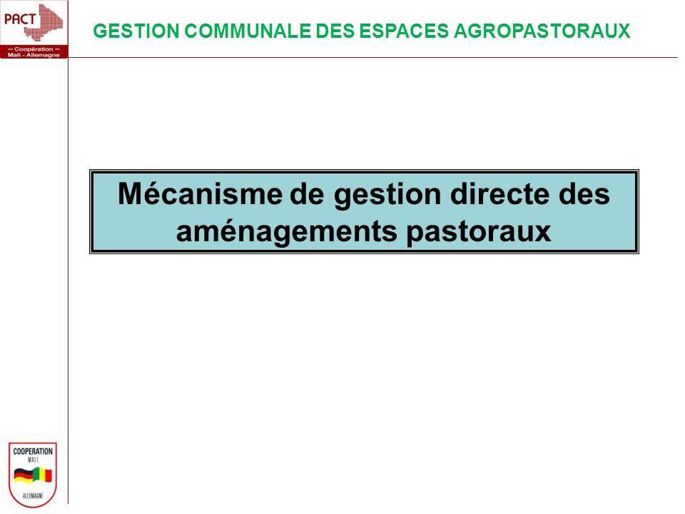 Mécanisme de gestion directe des aménagements pastoraux