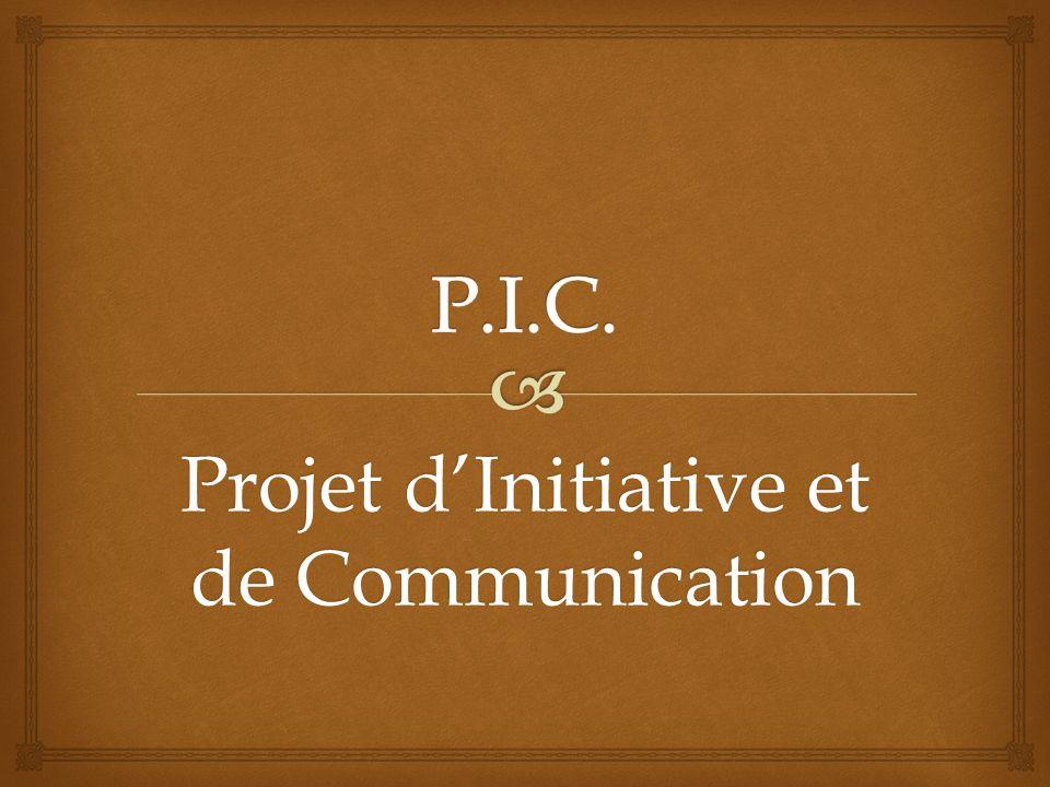Projet d'Initiative et de Communication