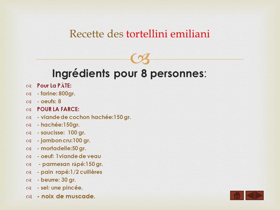 Recette des tortellini emiliani