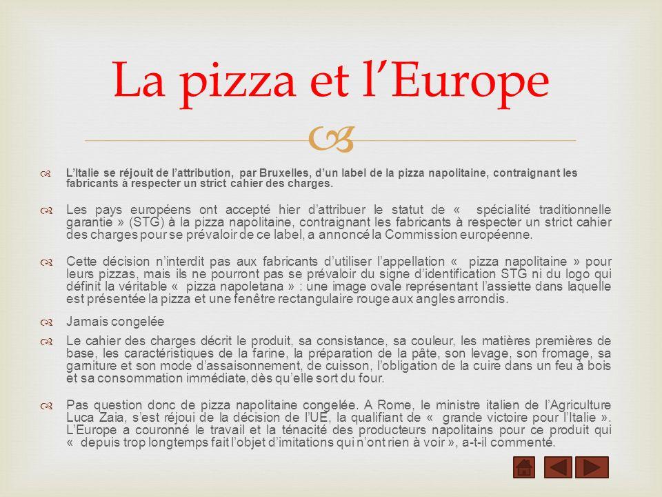 La pizza et l'Europe