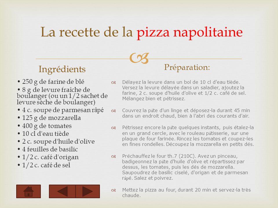 La recette de la pizza napolitaine