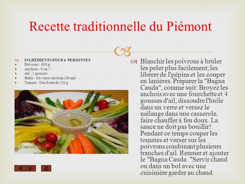 Recette traditionnelle du Piémont