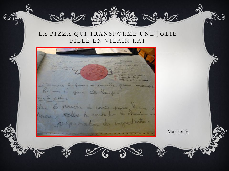 La pizza qui transforme une jolie fille en vilain rat
