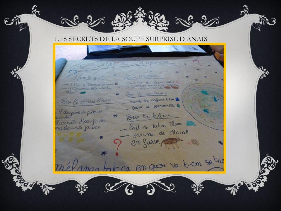 LES SECRETS DE LA SOUPE SURPRISE D'ANAIS