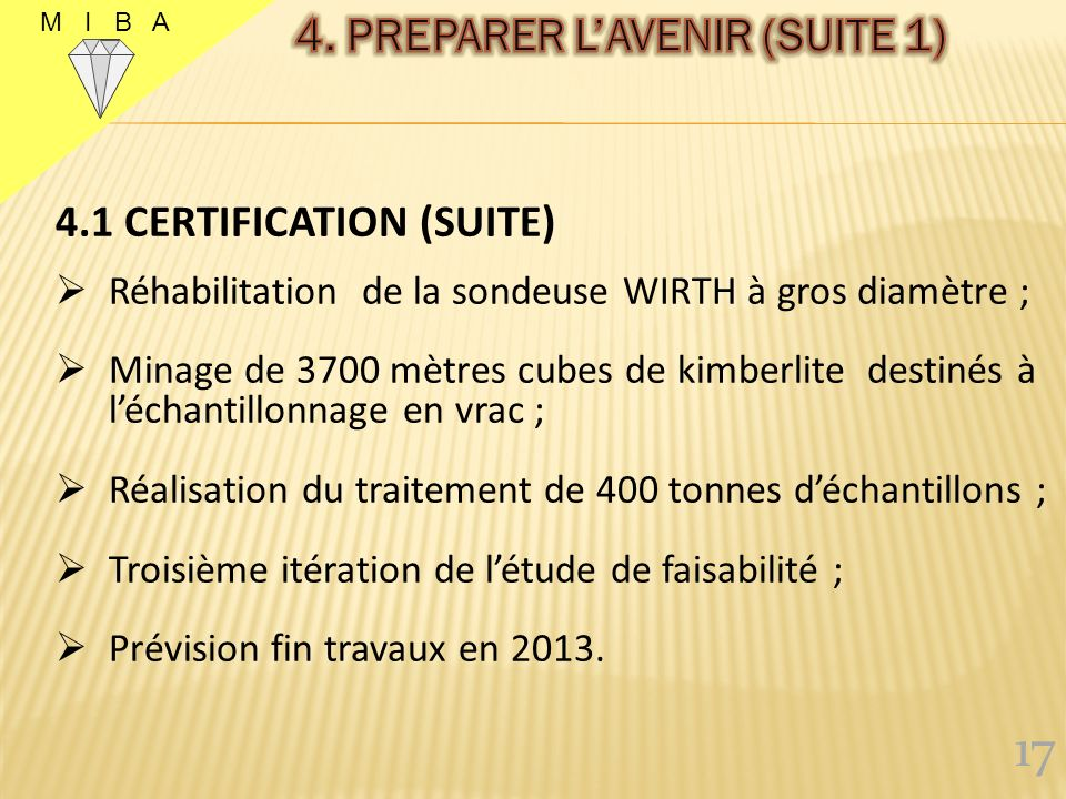 4. PREPARER L'AVENIR (SUITE 1)