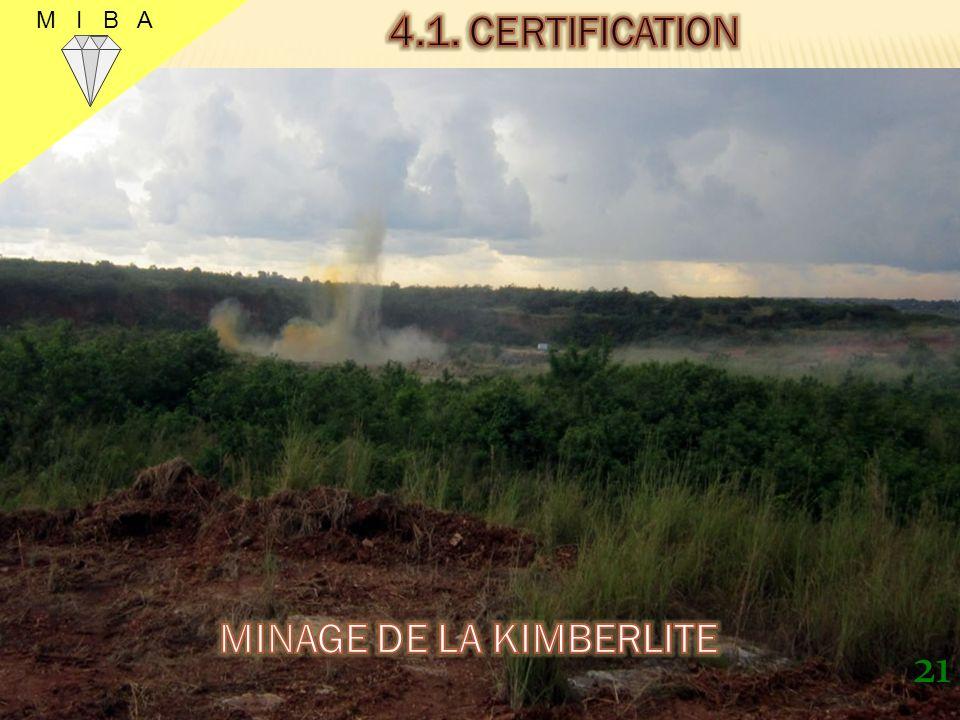 MINAGE DE LA KIMBERLITE