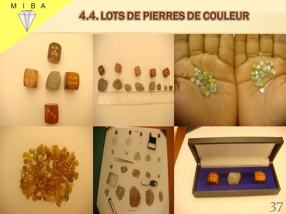 4.4. lots de pierres de couleur