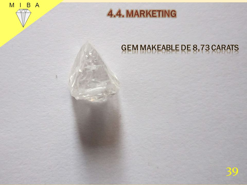 M I B A 4.4. MARKETING GEM MAKEABLE DE 8,73 CARATS 39 39
