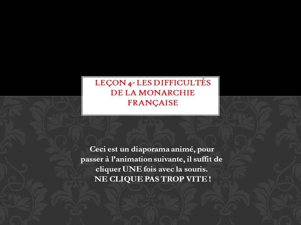 Leçon 4- Les difficultés de la monarchie française