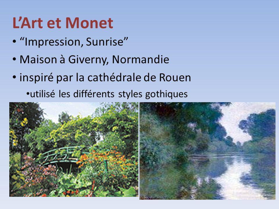 L'Art et Monet Impression, Sunrise Maison à Giverny, Normandie