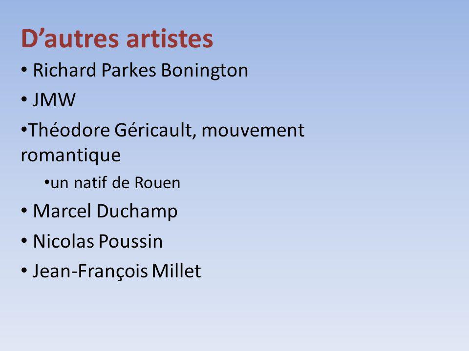 D'autres artistes Richard Parkes Bonington JMW