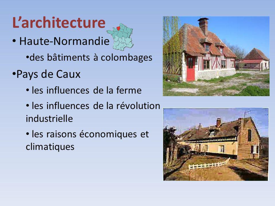 L'architecture Haute-Normandie Pays de Caux des bâtiments à colombages
